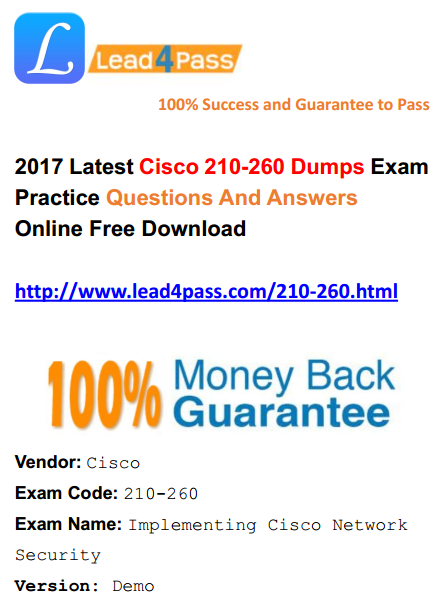 lead4pass 210-260 dumps